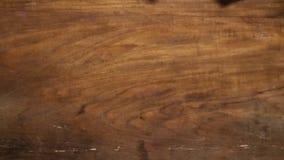 Предпосылка ровного цвета Брайна деревянная Стоковое Изображение RF