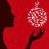 Предпосылка Рожденственской ночи Стоковые Фотографии RF