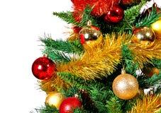 Предпосылка рождества дерева и шариков Стоковые Изображения