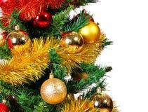 Предпосылка рождества дерева и шариков Стоковое фото RF