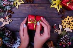 Предпосылка рождества или Нового Года деревянная Стоковая Фотография