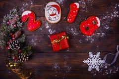 Предпосылка рождества или Нового Года деревянная Стоковое Фото