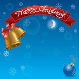 Предпосылка рождества и знамя торжества Стоковые Изображения RF