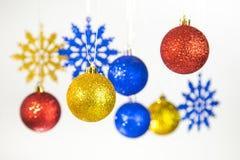 Предпосылка рождества и Нового Года красочная Стоковые Фотографии RF