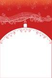 Предпосылка рождества красная с змейкой Стоковые Фотографии RF