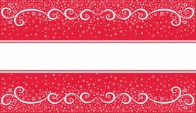 Предпосылка рождества праздничная на красном цвете Стоковое Изображение RF