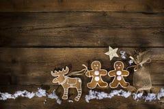 Предпосылка рождества пряника стоковые фото