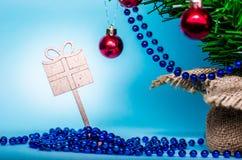 Предпосылка рождества, рождественская елка, ель, gerland Стоковое Изображение