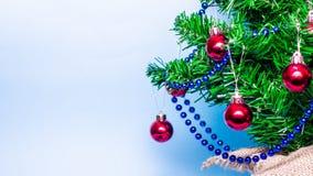Предпосылка рождества, рождественская елка, ель, gerland Стоковое Изображение RF
