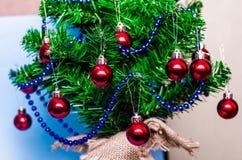 Предпосылка рождества, рождественская елка, ель, gerland Стоковые Фотографии RF