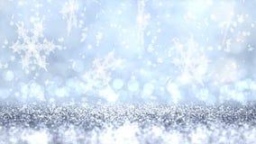Предпосылка рождества серебряной текстуры яркого блеска абстрактная r сток-видео