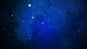 Предпосылка рождества страны чудес зимы голубая идя снег сток-видео