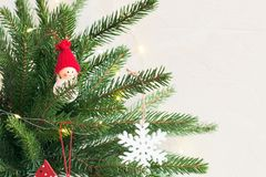 Предпосылка рождества с ветвями ели стоковые фотографии rf