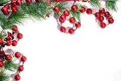Предпосылка рождества с елью стоковые фотографии rf
