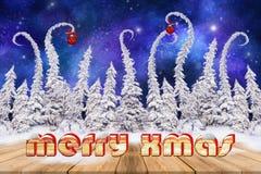 Предпосылка рождества с идти снег вертеть елями бесплатная иллюстрация