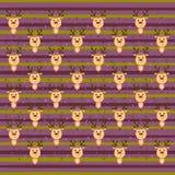 Предпосылка рождества с милыми оленями Стоковые Фотографии RF