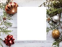 Предпосылка рождества с пустым космосом экземпляра стоковые фото