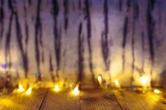 Предпосылка рождества с светами Стоковая Фотография RF