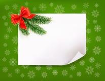 Предпосылка рождества с смычком подарка Стоковые Изображения RF