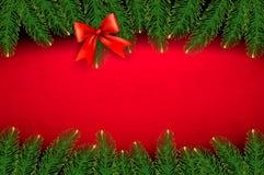 Предпосылка рождества с смычком подарка Стоковое Изображение RF