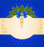 Предпосылка рождества с смычком. иллюстрация штока