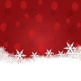 Предпосылка рождества с снежком. Стоковые Фото