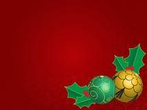 Предпосылка рождества с шариками Стоковые Фото
