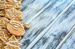 Предпосылка рождества с gingerbread Стоковое Изображение