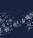 Предпосылка рождества с snow Стоковое Фото