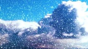Предпосылка рождества с snow иллюстрация вектора