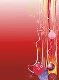 Предпосылка рождества Grunge красная Стоковое Изображение RF