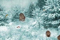 Предпосылка рождественской открытки. Стоковые Фотографии RF