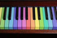 Предпосылка рояля радуги стоковые фото