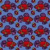 Предпосылка рыб безшовная Стоковое Фото