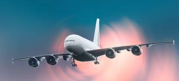 Предпосылка самолета Стоковые Изображения RF