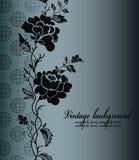 Предпосылка сбора винограда с цветком Стоковое Изображение RF