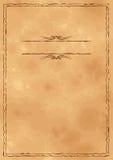 Предпосылка сбора винограда Grunge старая бумажная Стоковая Фотография