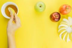 Предпосылка свежих фруктов для Rosh Hashanah Стоковые Изображения RF