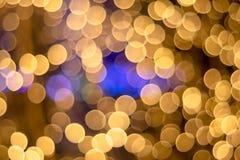 предпосылка света золота Bokeh ฺChristmas красивейший свет стоковая фотография