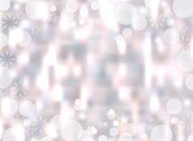 Предпосылка света рождества Фон праздника накаляя запачкал bokeh вектор иллюстрация вектора