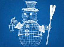 Предпосылка светокопии снеговика стоковые изображения rf
