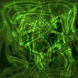Предпосылка свирли абстрактная мистическая светящая зеленая Стоковое фото RF