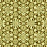 Предпосылка священной геометрии золотая в непрерывных кругах и цветках стоковое фото rf