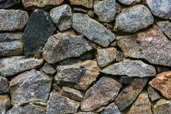 предпосылка сделала каменную белизну стены текстуры камней Стоковые Фото