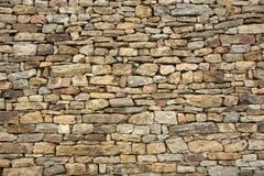 предпосылка сделала каменную белизну стены текстуры камней Стоковое Изображение