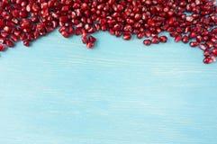 Предпосылка сделанная из красных семян гранатового дерева Стоковые Изображения