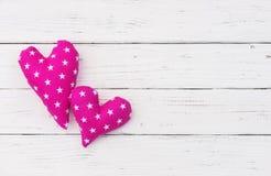 Предпосылка 2 сердец для карточки Wedding или валентинки Стоковое Изображение RF