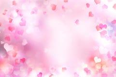 Предпосылка сердец ` s валентинки запачканная днем Стоковое Фото