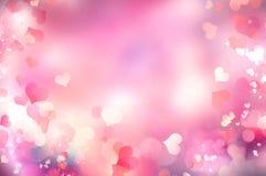 Предпосылка сердец ` s валентинки запачканная днем Стоковые Изображения RF