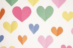 Предпосылка сердца бумаги конструкции Стоковая Фотография RF